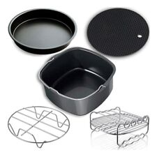 5-in-1 Air Fryer Accessories Set Fits 3.7QT 5.3QT 5.8QT Cake Pizza Holder Rack