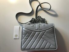 4f296a27bf0b NEW Tory Burch 50646-052 Alexa Mini Leather Shoulder Bag CONCRETE  325