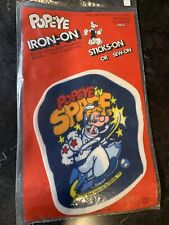 Popeye In Space 1980 Iron-On Sticks-On Sew-On Patch Mip Unused Cartoon Tv Star