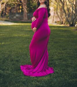maternity dress photography pink