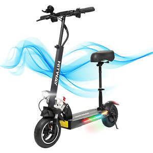 HITWAY Electric Scooter, E Scooters With Seat Fast, 800W, Max Speed 45km/h 10Ah