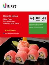 A4 Double Sides Matte Photo Paper 260Gsm Thick Matt Inkjet  Paper Print Uinkit