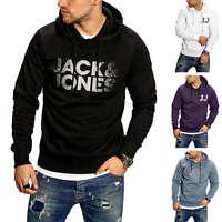 Jack & Jones Herren Hoodie mit Print Kapuzenpullover Sweatshirt Casual Sweater