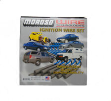 Moroso Spark Plug Wire Set 9080M; Mag-Tune Race 8.0mm Black for Chevy 454 BBC