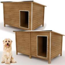 Hundehütte XL - L Hundehaus große Hunde isoliert Windfang Massivholz Wetterfest