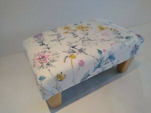 Mother's Day or Birthday Gift British Floral Footstool Personalisation Available