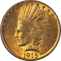 1915-P Indian Gold $10 PCGS MS62 Great Eye Appeal Strong Strike