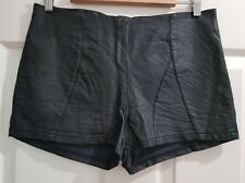 Ladies size 10-12 Black Pleather High Waist Short Shorts