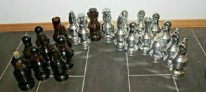Avon Lot Of Chess Pieces After Shave Incomplete Set Full & Empty 24 Pieces Total