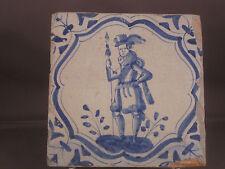 Antique Dutch Tile Soldier rare Tiles 17th century -- free shipping