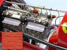 SMC Cloth Spark Plug Wire Pocher Rolls Royce Alfa Bugatti Fiat Mercedes RED/YELL