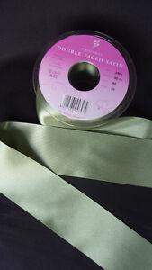 Double Faced Satin Ribbon Berisfords Khaki Colour 80 Olive Green + ODDMENTS