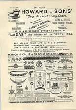 1894 Hotel Victoria Trafalgar Square Luncheon Three And Sixpence