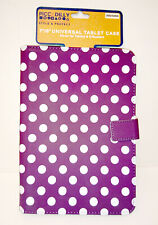 """7"""" 8"""" PICCADILLY UNIVERSAL TABLET CASE Grape Purple White POLKA DOTS Kindle Fire"""