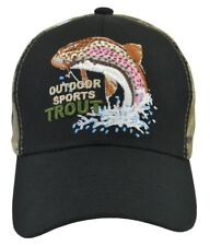 Outdoor Sports Trout Black and Camo  fish hat Fully  adjustable Free  Shipping
