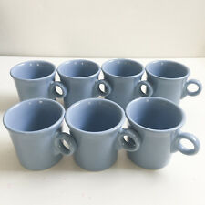 Lot of 7 FIESTA WARE HLC RING HANDLED COFFEE MUG CUP BLUE PERIWINKLE TOM & JERRY