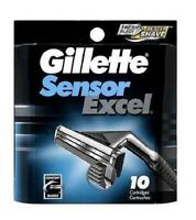 Gillette Sensor Excel Razor Refill Cartridges 10 ct