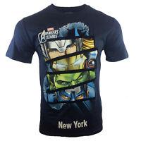 AVENGERS ASSEMBLE Men's T-shirt Marvel NY THOR IRON MAN HULK CAPTAIN AMERICA