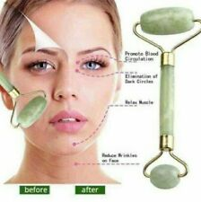 Double Jade Nature Head Facial Massage Roller Face Anti Wrinkle Tool