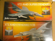 Heller Dassault Breguet Ivm & Super Etendard 50360 & 80361 sealed 1:72 Nib