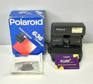 Polaroid 636 Closeup Black Instant Camera Boxed with Manual