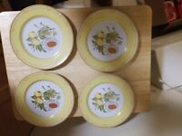 George Brinard Somerset Salad Plates.Set of 4 Measures 7 1/2 inches. Exc. Cond!