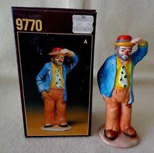 "Flambro ""Clown Holding His Hat"" Figurine by Emmett Kelly Jr.,Porcelain, 5.5"" Tll"