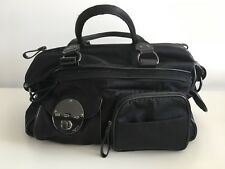 Mimco Lucid Black Baby Bag Nappy Bag Turn Clip Perfect Condition MIMCO