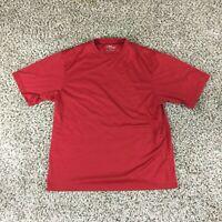 PGA Tour Men Sz L Red Performance Golf Shirt Summer