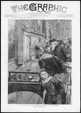 1891 Antique Print - London Royal Naval Exhibition Nelson Memorabilia (84)