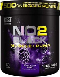 MRI NO2 Black Nitric Oxide Supplement for Pump, Muscle Growth - Black Razzy