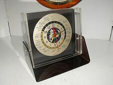 Vintage Space Age Looking GMT World Time Quartz Desk Clock Working Perfect L@@K