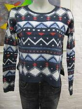 Hollister schöner Strick Pullover XS-S  schöner Muster & Locker