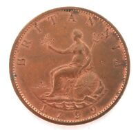 .SUPERB HIGH GRADE aUNC / UNC 1799 ENGLISH HALF PENNY.
