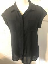 Target Ladies Work Shirt Size 10 Black Top Business Blouse New NWOT