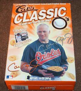 1999 CAL RIPKEN JR CAL'S CLASSIC O'S HONEY NUT CEREAL BOX