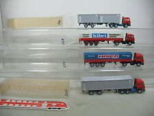ai727-1 #4x Wiking H0 (Container Semitrailer IVECO : Maier Spedition + Kibri +