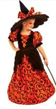 Curly The Witch Costume Girl's Large 10 Deluxe Hoop Skirt + Hat Halloween NWT