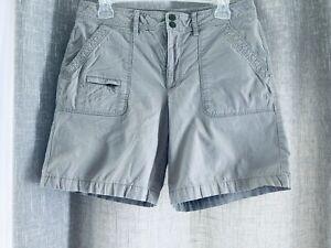 "LL Bean Womens Khaki Comfort Trail Shorts Hiking Walking 8"" Inseam Size 10"