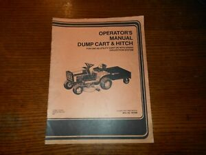 SIMPLICITY DUMP CART & HITCH OPERATOR'S MANUAL  Mfg. # 1691688