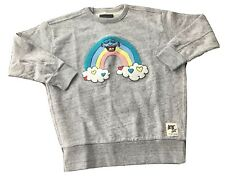 NEW Finger In The Nose Stevie Gee Rainbow Crewneck Sweatshirt Girls Size 12