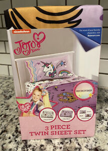 NEW Nickelodeon JoJo Siwa Sheet Set 3 Piece Twin Size - Microfiber