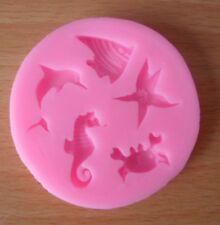 5 x différents Sea Life forme dans un Fondant moule gâteaux Savon Cookie Décoration