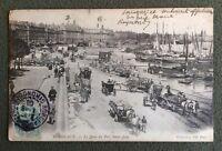 CPA. BORDEAUX. 33 - Le Quai du Port Saint Jean. 1906.