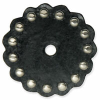 """Black Concho With Nickel Spots 2"""" Diameter 71499-01 by Tandy Leather"""