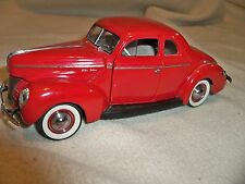 1940s Ford Coupe Vintage Sport Car T A GT  Carousel Red Metal Art 18 RARE