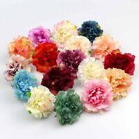 "10/50 Artificial Silk Small Peony 2"" Flower Heads Wedding Decoration Fake Flower"