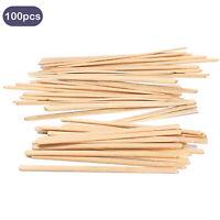 100PCS Wooden Coffee Tea Beverage Stir Sticks Stirrers for Home Office 14cm
