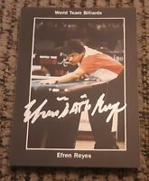 1993 WWC PRO BILLIARDS EFREN REYES ROOKIE CARD signed autographed POOL LEGEND