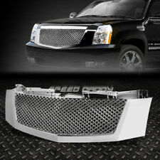 FOR 07-14 ESCALADE CHROME FRONT BUMPER/HOOD DIAMOND MESH ABS GRILL/GRILLE/FRAME